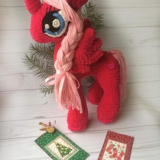 вязаная игрушка пони или единорожек