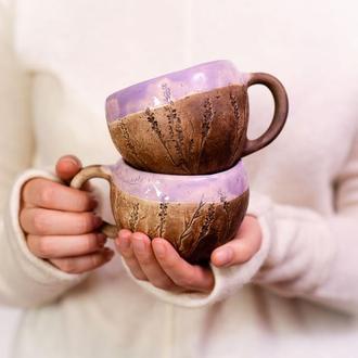 """Горня, чашка, кружка """"Flora violet"""""""