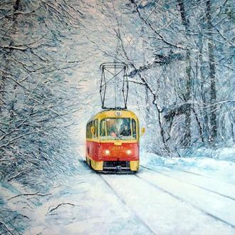 "картина ""Трамвай №12. Январь"""