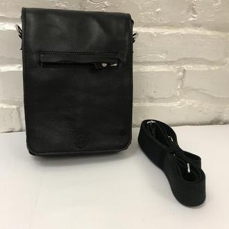 Черная мужская сумка. Деловая ежедневная сумка.