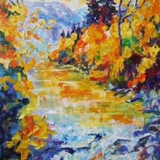 Осень у горной реки