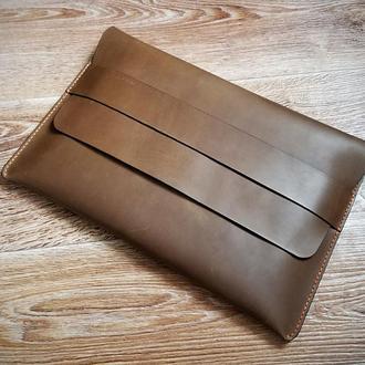 Чехол для ноутбука,  MacBook, праншета натуральная кожа