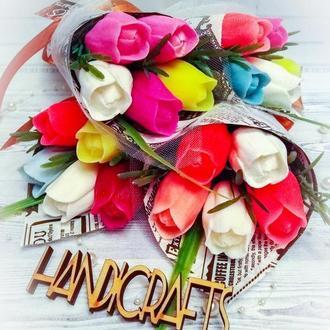 Букет тюльпанов из мыльных цветов