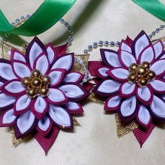 Резиночки-цветочки для детских хвостиков
