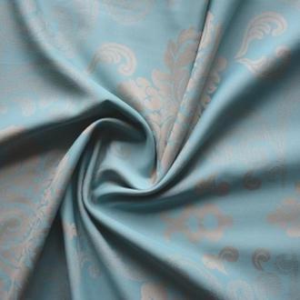 Сатин Голубой с узорами (Satin Blue with patterns) 110814