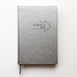 Блокнот Notebook Active My perfect day Срібло А5 недатований на рік 11 кольорів