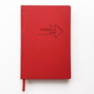 Блокнот Notebook Active My perfect day Красный А5 недатированный на год 11 цветов