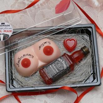 Набор мыла для мужчин  Женская грудь, Виски Джек Дениалс