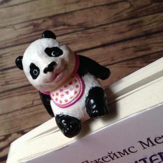 Оригинальная закладка для книги, блокнота Панда