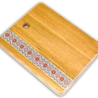 Доска разделочная деревянная Вышиванка 20*25 см