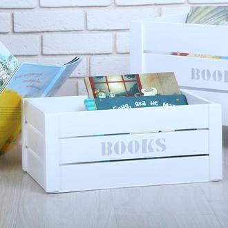 Ящик для книжек от WoodAsFun, деревянный для хранения книг