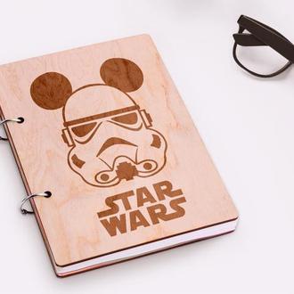 """Блокнот в деревянной обложке """"Star Wars"""""""