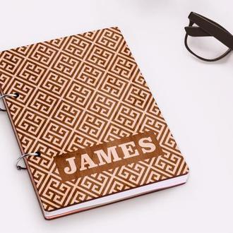 """Блокнот в деревянной обложке """"James"""""""