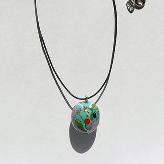 Кулон бусина петриковская роспись