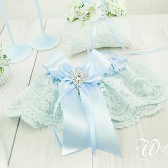 Подвязка невесты голубая / Блакитна підв'язка для нареченої