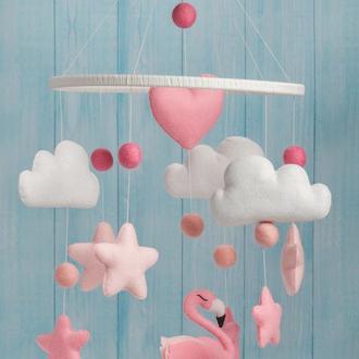"Мобиль из фетра ""Фламинго"""