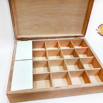 Шкатулка для чайных пакетиков Белая (большая)