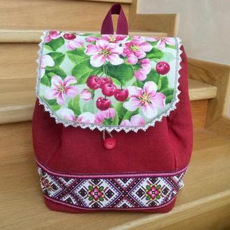 Текстильный рюкзак «Вишенка»