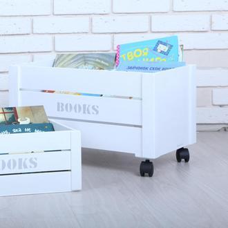 Ящик для книг от WoodAsFun, деревянный для хранения книг