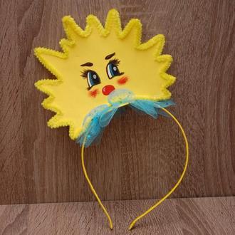 Обруч ободок на утренник солнце сонце солнышко сонечко