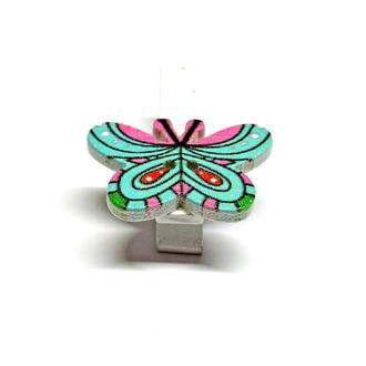 Прищепка декоративная Бабочка узорная голубая