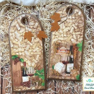 ′Винный погребок′ - кухонные досточки, набор 2шт.