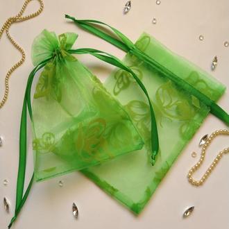 Мешочек оз органзы  для упаковки вещей ручной работы (подарочный мешочек из органзы)