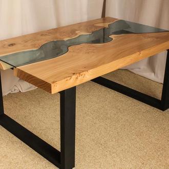 Эксклюзивный стол из массивной доски вяза