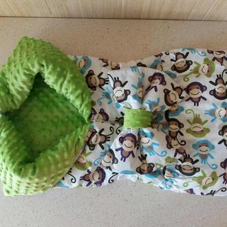 Конверт одеяло- трансформер для малыша на выписку или в коляску