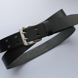 Кожаный ремень двойная пряжка