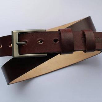 Брючный кожаный ремень мужской
