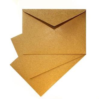 Крафт конверт С6 (плотность 120 г/м2). Глянцевая текстура.