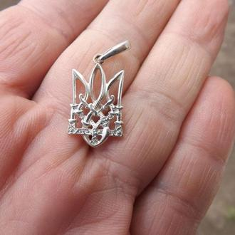 """Кулон, подвеска """"Герб"""", подарок девушке, любимой, серебро 925."""