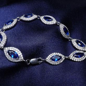 Браслет, подарок девушке, жене, серебро 925