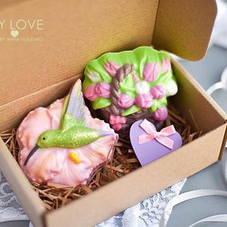 Подарочный набор сувенирного мыла Love in Spring Колибри