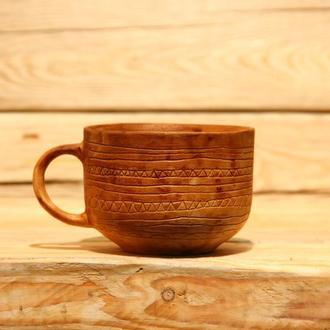 глиняная чашка натурального молочения
