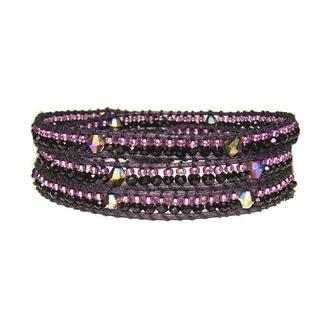 Бисерный браслет, лиловый браслет в стиле Chan Luu (Чан Лу), сереневый браслет, фиолетовые браслет