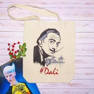 Эко-сумка с  росписью Дали