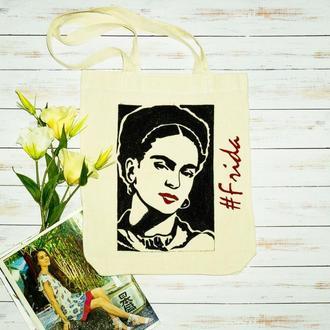 Эко-сумка с  росписью