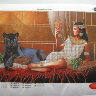 Схема для вышивания бисером  Клеопатра и пантера