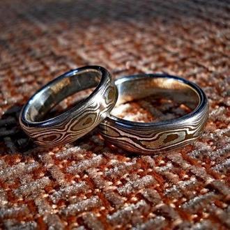 Кільце ′МОКУМЕ′ (срібло і мідь)