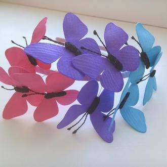 Обруч с бабочками
