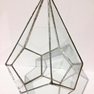 Террариум, Стеклянный террариум, Teardrop, Большой подвесной террариум, Геометрический террариум для
