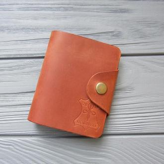 Кожаный картхолдер на 20 карт_Карманная визитница для карточек