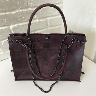 Женская сумка. Кожаная просторная сумка.