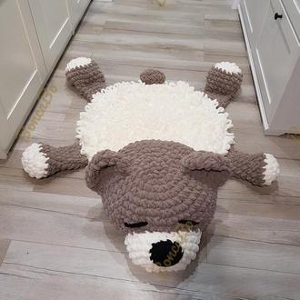 Детский плюшевый коврик Спящий медвежонок