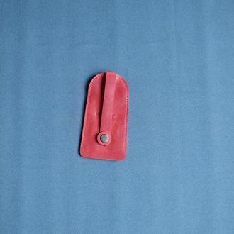Кожаная ключница. Красная