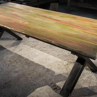 Столь из натурального дерева ручной работы на Х-ножках