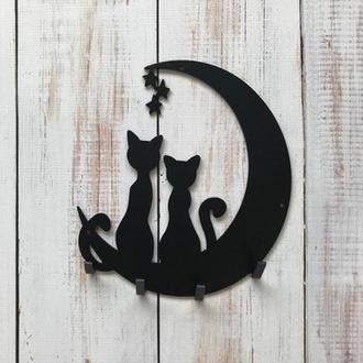 ключницы для дома, ключница, ключницы металлические, настенные ключницы, коты