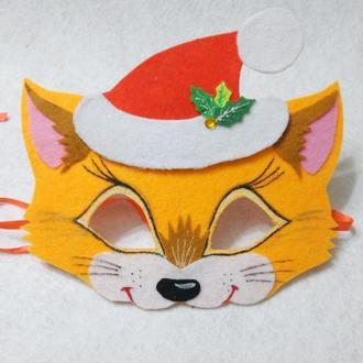 Новогодняя маска лисички